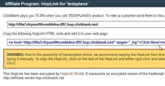Hoplink Shortened URL