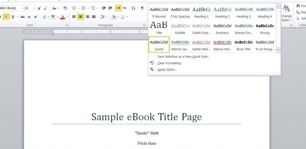 eBook in Word