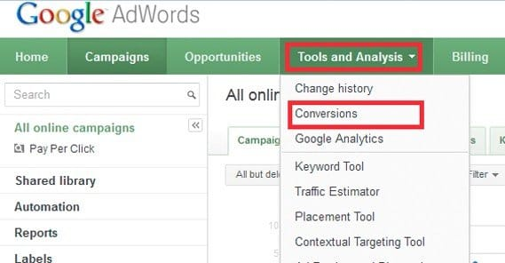 Conversion Tracking on Adwords
