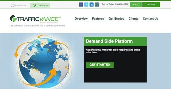 Trafficvance Website Screenshot