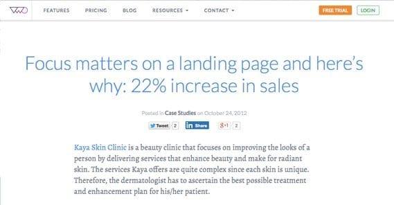 Increase in Sales