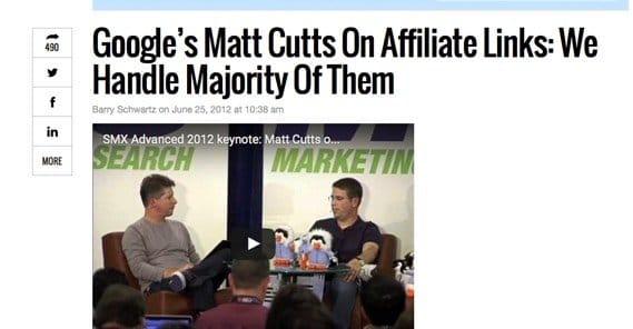 Affiliate Links and Google Algorithms