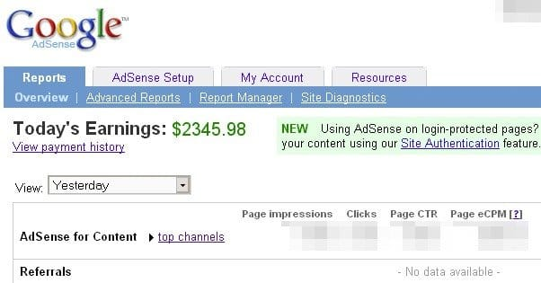 An How Money Adsense From Earn Website To More