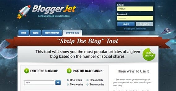 Strip the Blog Tool