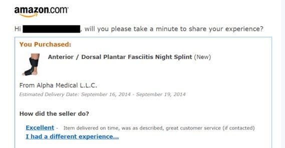 Example of Review Email