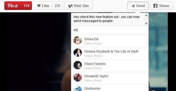 Send Message on Pinterest