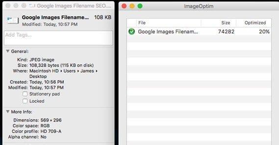 Google Images File Size