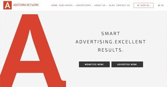 Adsterra Website