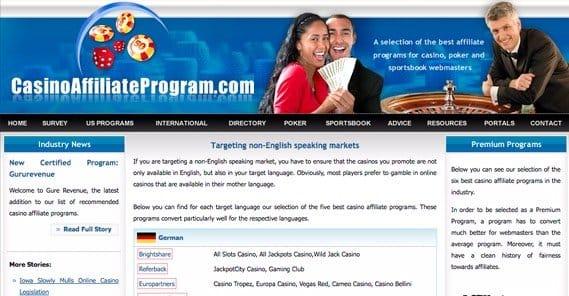 Gambling affiliate program directory no deposit free spin casinos