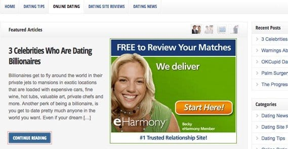 dating celebrities website