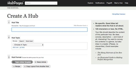 Hubpages Write Article