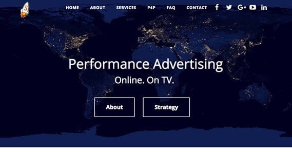 Performance Marketing Website Example