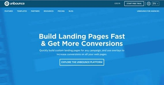 Unbounce Homepage