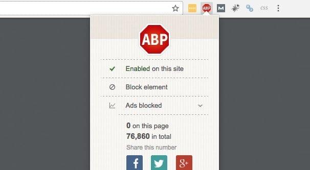 AdBlock Plugin in Action