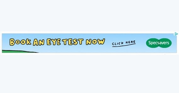 Book an Eye Test Ad