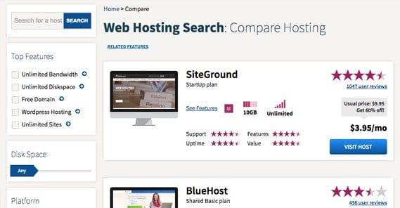 Compare Web Hosts