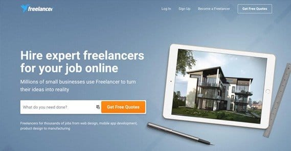 Freelancer Homepage