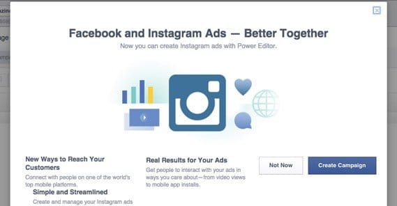 Instagram Part of Facebook Ads