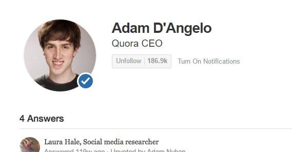 Quora Verified Tickmark