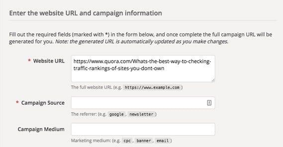 UTM Website URL Quora