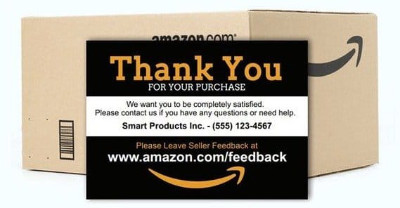 Amazon Thank You Card