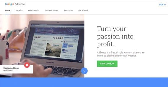 AdSense Start Page