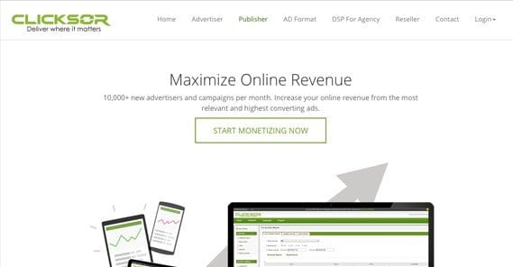 Clicksor Homepage