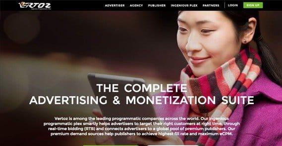 Vertoz Homepage