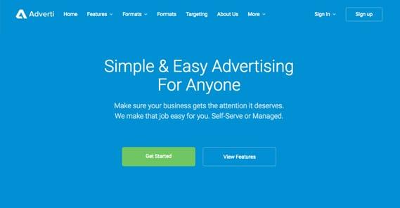 Adverti Homepage