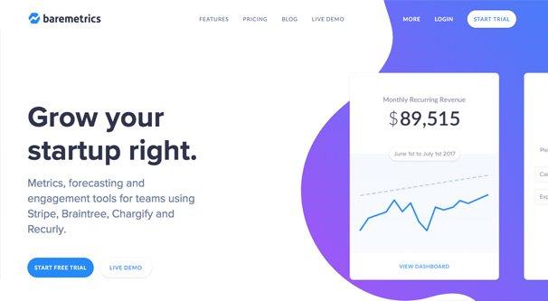 Baremetrics Homepage