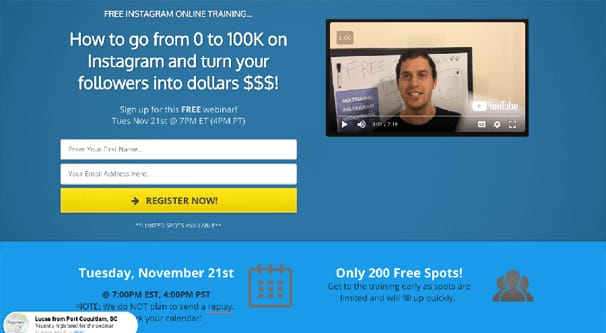 Landing Page Example 1