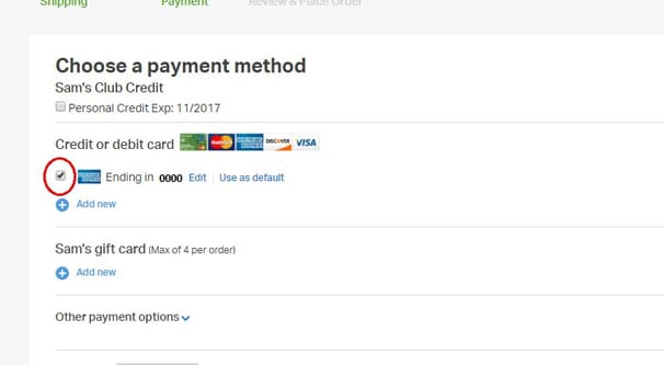 Payment Method Example