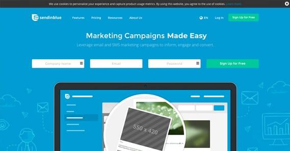 Send in Blue Website