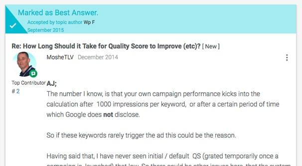 1000 Impressions AdWords Update