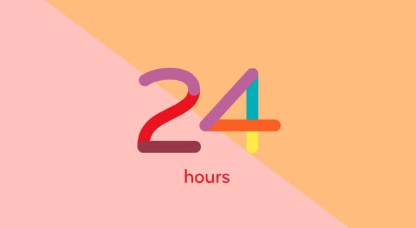 24 Hours Illustration