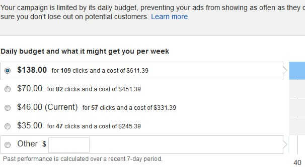 Ads Limited by Budget Example
