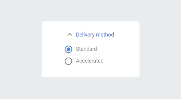Delivery Method AdWords