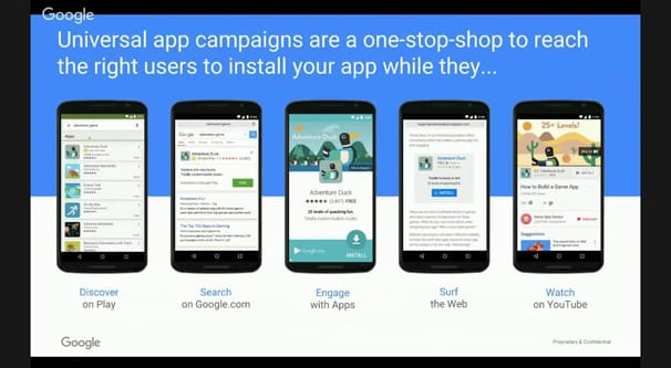 Universal App Campaign Features
