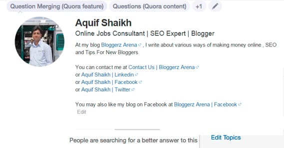 1cd99f77621 Answering questions on Quora is a valid marketing strategy. So is asking  them