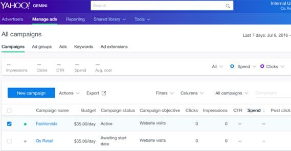 Yahoo Gemini Dashboard