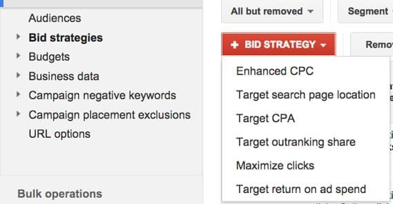 Google Bid Strategies