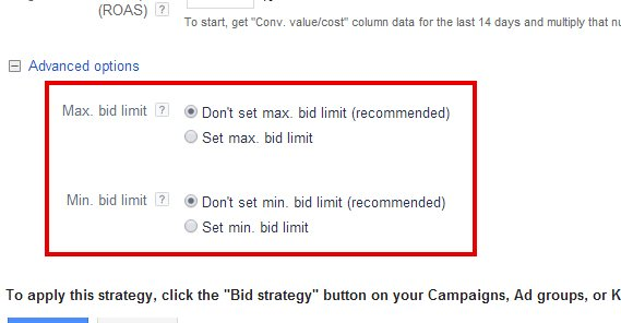 Bid Limit on Google Ads