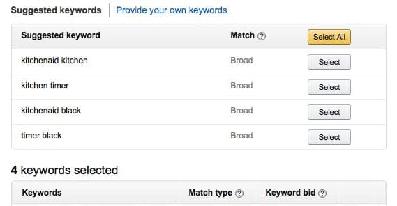 Choosing Amazon Keywords