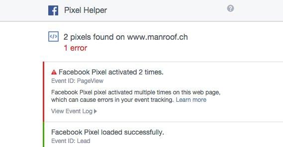 Facebook Pixel Loaded Twice