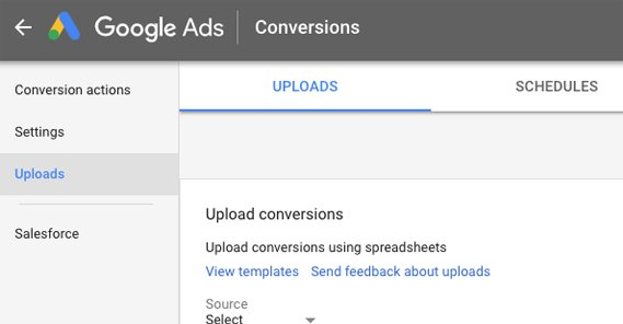 Upload Conversions on Google Ads