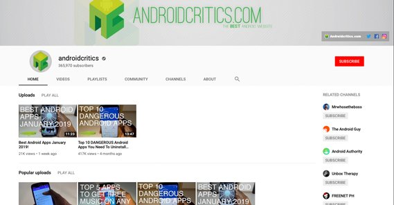 Android Critics Channel