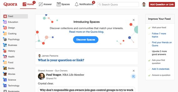 Answer Questions on Quora