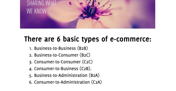 6 Types of eCommerce