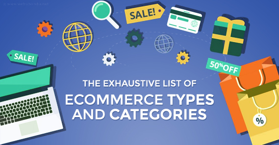 Ecommerce Types and Categories Illustration