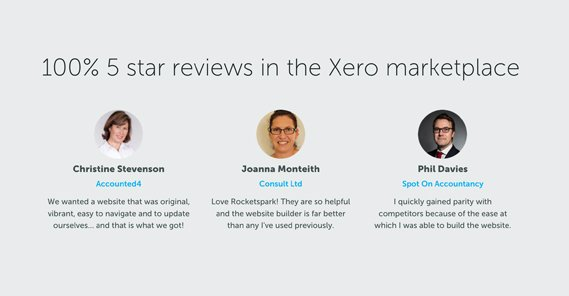 Example Customer Testimonials